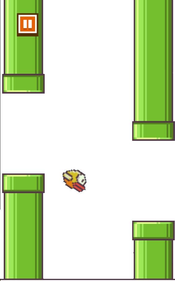 Screenshot of a game of Flappy Bird