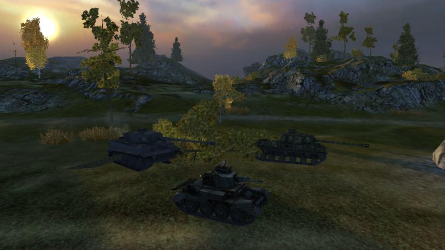 A+tiger+tank+and+an+IS+tank+preparing+to+attack+the+enemy