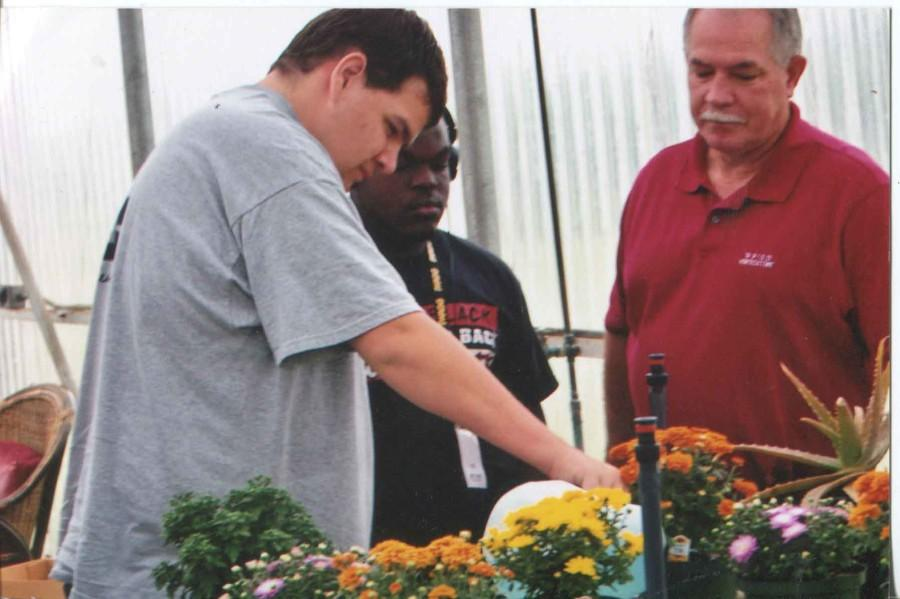 Horticulture students learn about various plants, their stages of growth and how to harvest them.