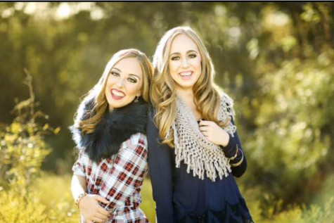 """The sisters were able to take a few of their senior pictures together. """"It was fun to get to do something like this together,"""" Kristin said."""