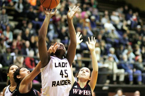 Senior Abreanna Harrison shoots the ball.