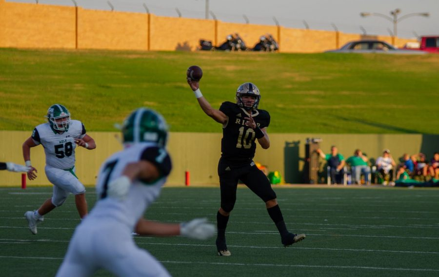 Jacob Rodriguez has shined in his first two games as Rider's quarterback his junior year.
