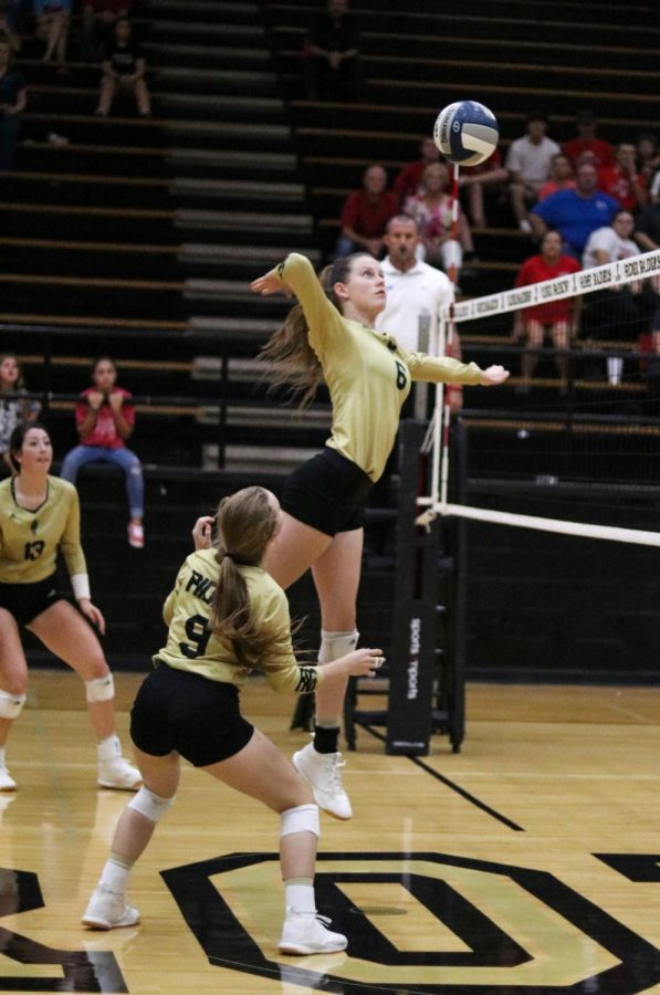 Junior Jill Leslie has thrived in her first season at Rider, leading the team with six blocks per game.