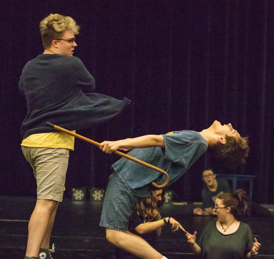 Aidan Neely (left) and Robert Holloway rehearse for the upcoming