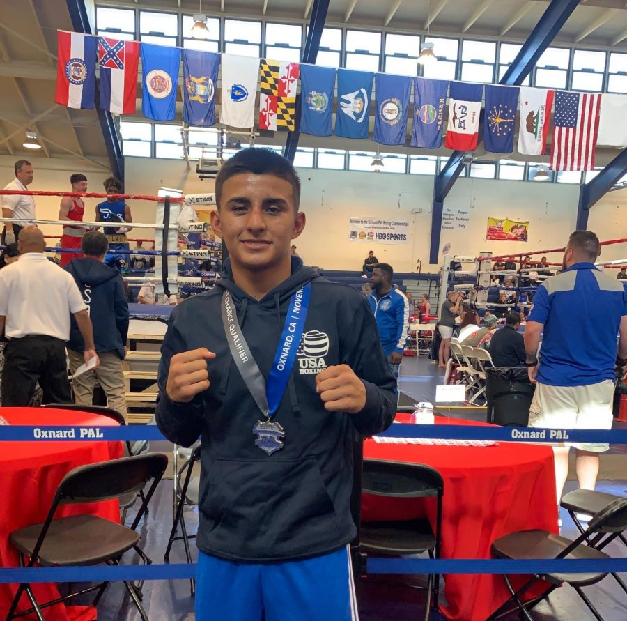 Emmanuel Carrillo is a five-time national champion boxer who also plays multiple sports at Rider.