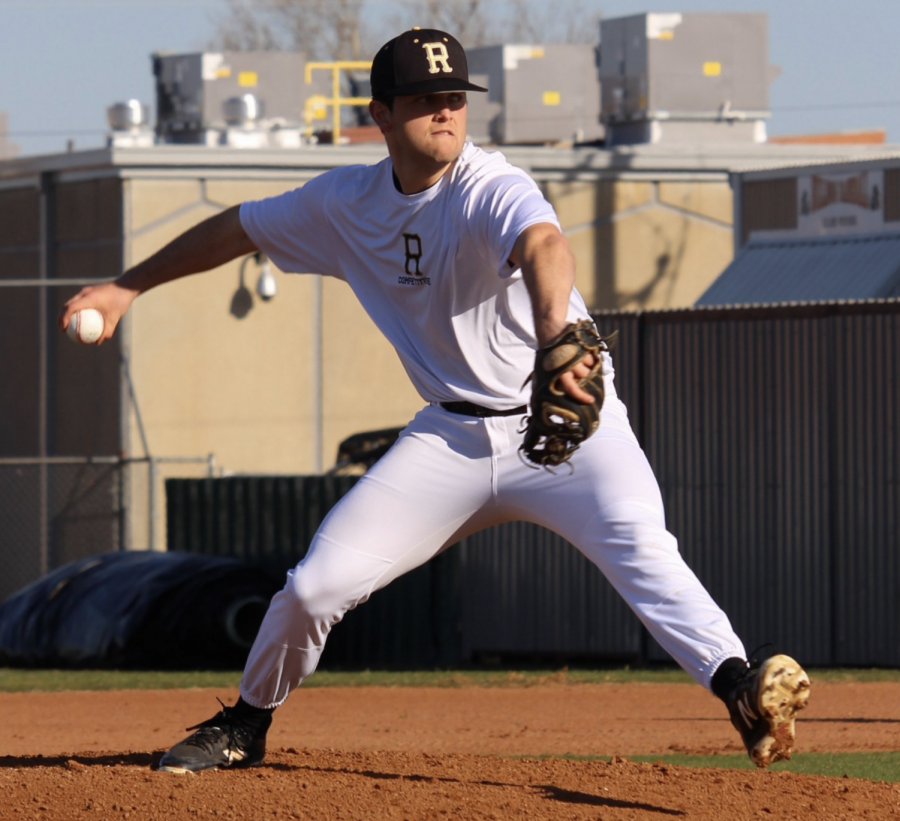 Rider pitcher Maverick Folmar is having his senior baseball season impacted by the coronavirus.