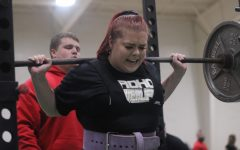 Hannah Wilson is one of two Rider athletes heading to the state powerlifting meet.