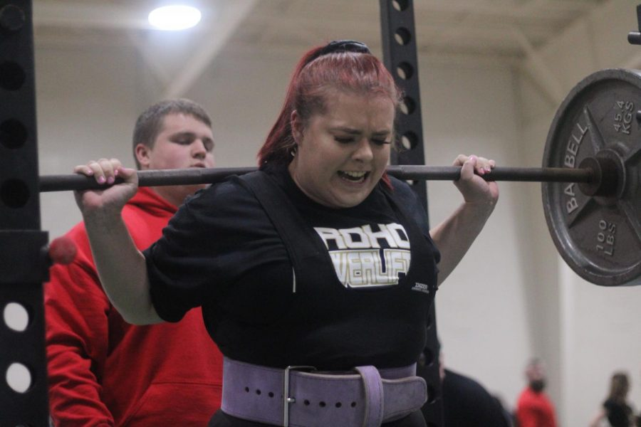 Hannah+Wilson+is+one+of+two+Rider+athletes+heading+to+the+state+powerlifting+meet.+