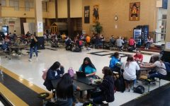 The cafeteria and student center aren't as crowded with more students learning from home.