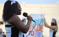 Senior Shayla Stevenson at the freshmen corral
