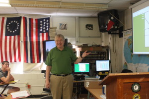 APUSH teacher Joe Pearson in his classroom.