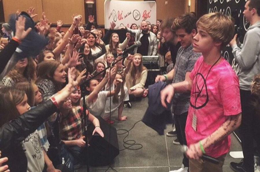 Freshman Christian Akridge answers questions at the Pressplay event in Philadelphia Nov. 8. Akridge started using the Vine app in August and quickly gained the attention of other Vine users. He now tours with other social media celebrities.