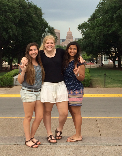 Bailey Gutierrez toured UT with her best friends Devaki Radkar and Taylor Sons. They plan on going to UT in the fall and rooming together.