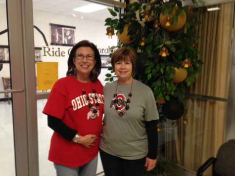 Receptionist Jan Albin (left) was diagnosed with cancer Jan. 14. Through her treatment she said,