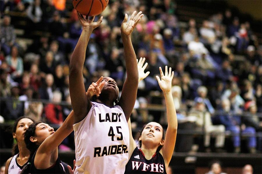 As she faces Old High, senior Brea Harrison helps earn her team the spot as sixth in state.