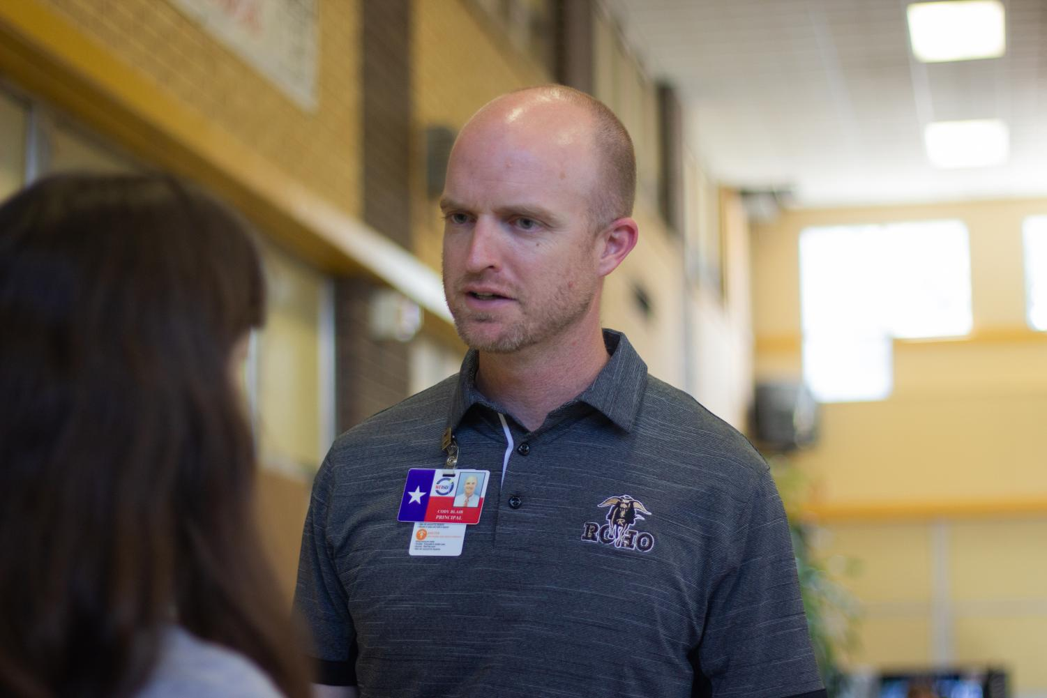 Dr. Cody Blair is looking forward to his second year as the Rider High School principal.