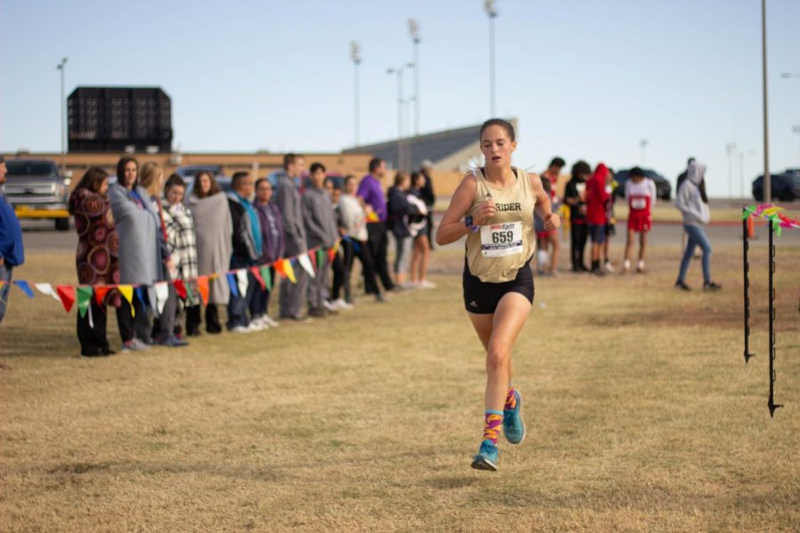 Makenzi Renfro represented Rider at the regional cross country meet earlier this week.