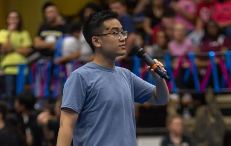 Senior Peter Nguyen is the host of this year's pep rallies.