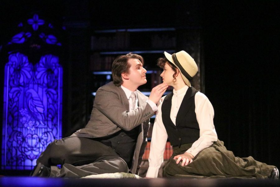 Juniors Spencer Simons and Macy Davis during one-act play.