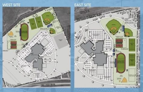 The plans for the new high schools, Memorial and Legacy High School, respectively.