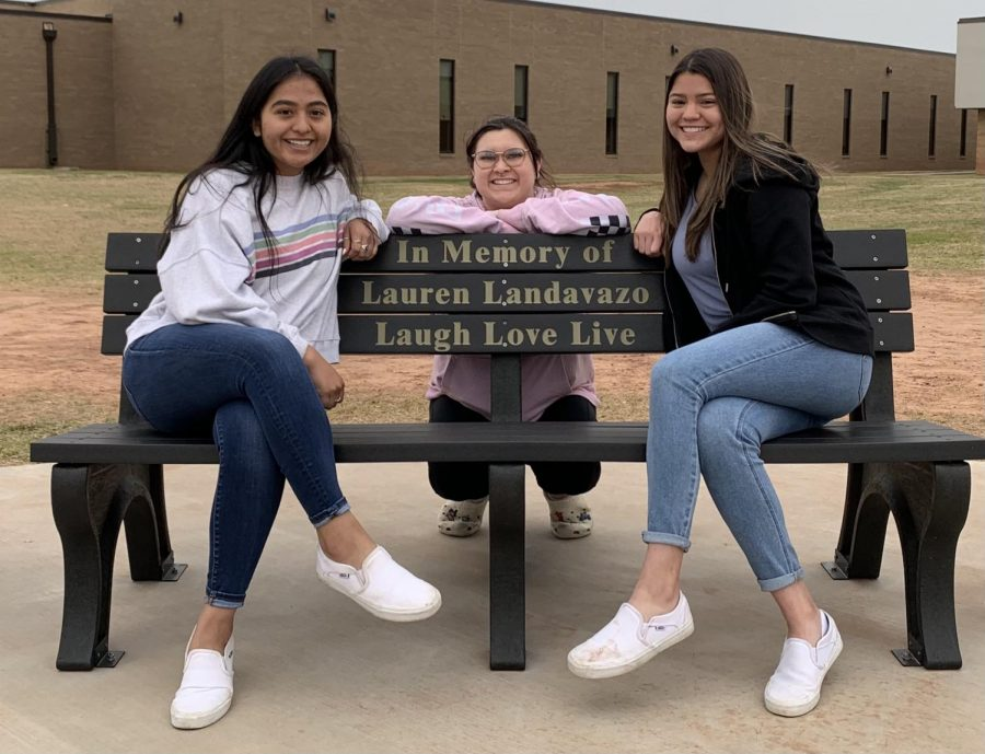 Rodriguez (left), Darkow (middle) and Aquallo remember their friend Lauren fondly.