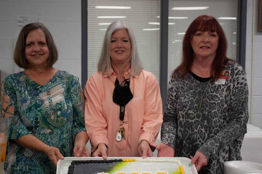 Ellen Rigsby, Jill Lauck and Nancy Kizis are retiring this year from Rider High School.